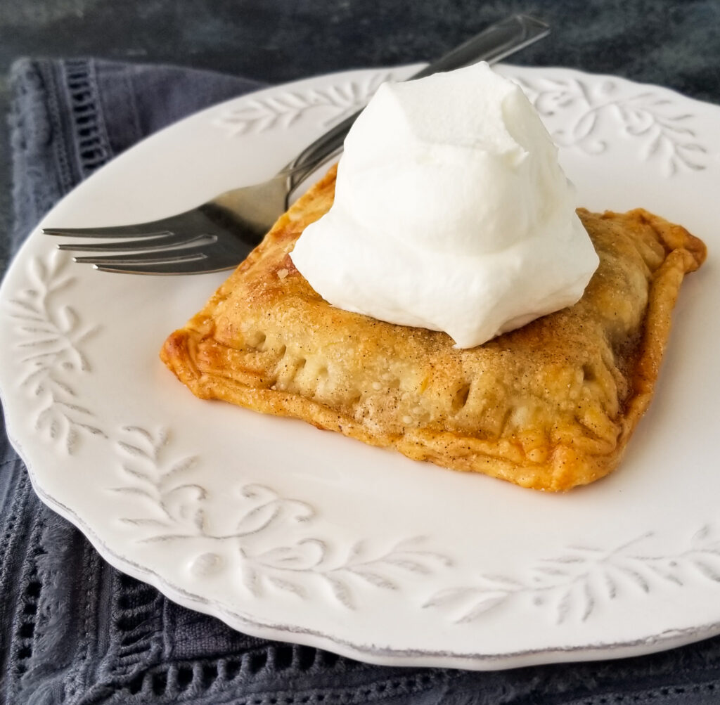 pie topped with whipped cream