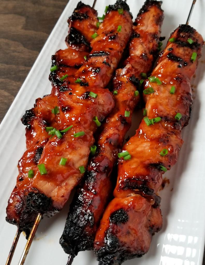 BBQ Pork Skewers with Filipino BBQ Marinade - Amanda Cooks