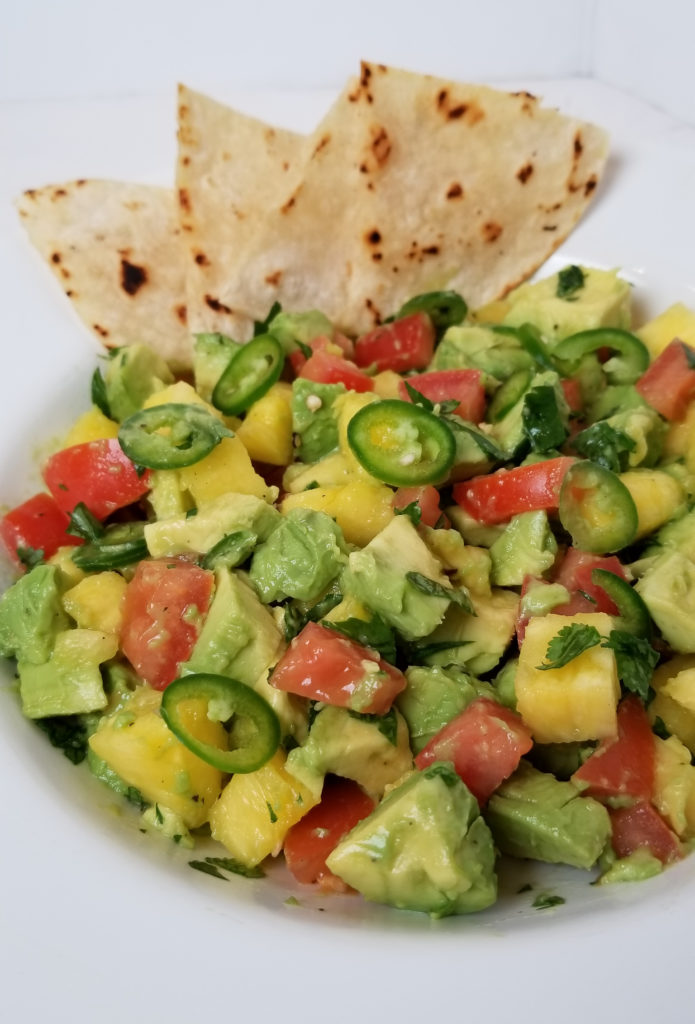 spicy avocado pineapple salsa