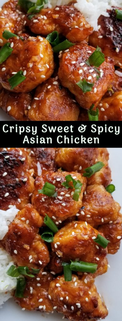 sweet and spicy crispy asian chicken