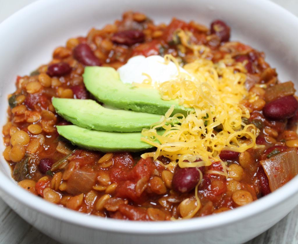 slow cooker lentil chili