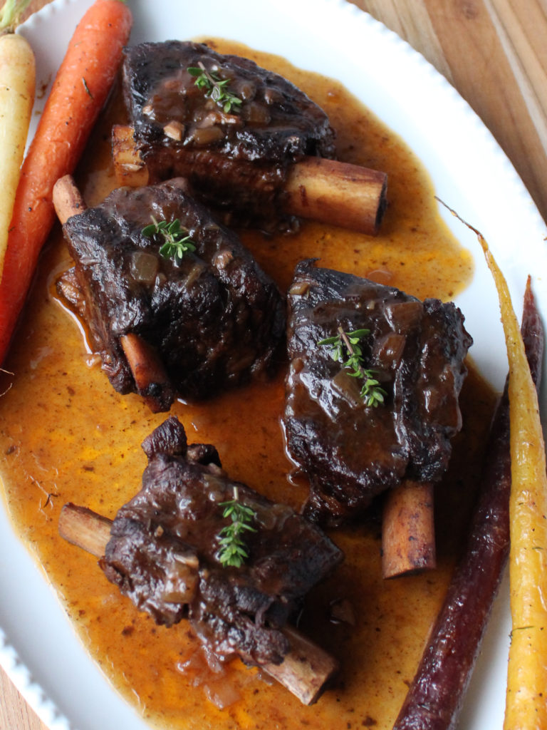 slow cooker short ribs in red wine sauce