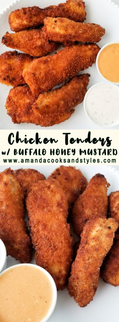 chicken tenders with buffalo honey mustard