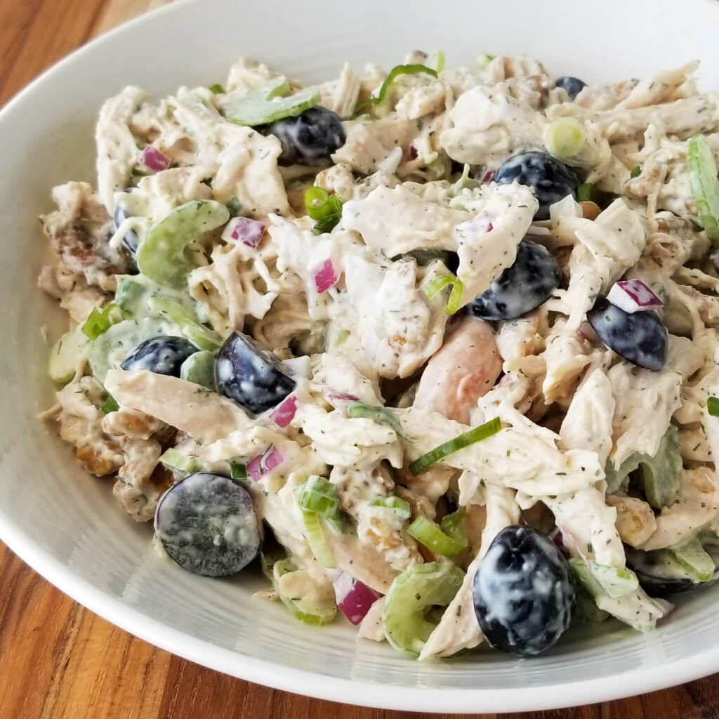 grape walnut chicken salad