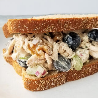 grape and walnut chicken salad