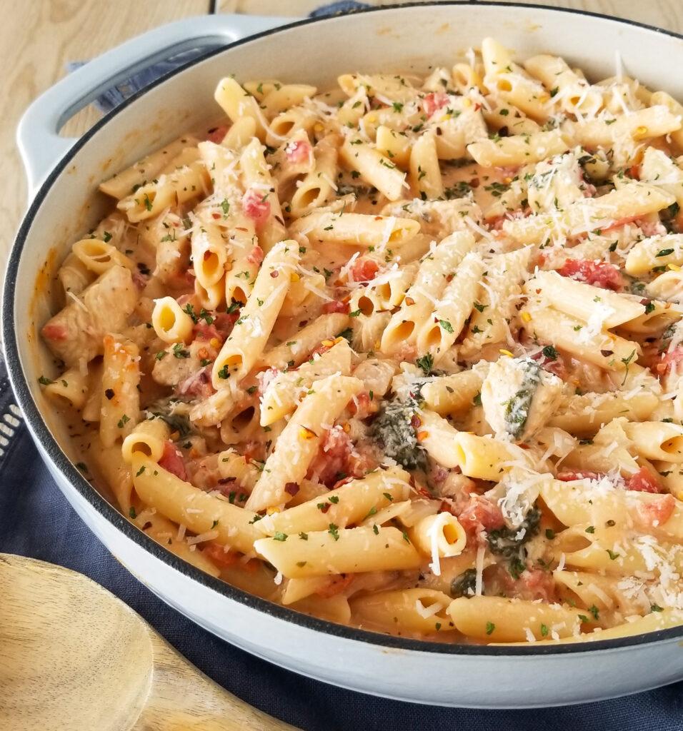 one pot creamy chicken pasta