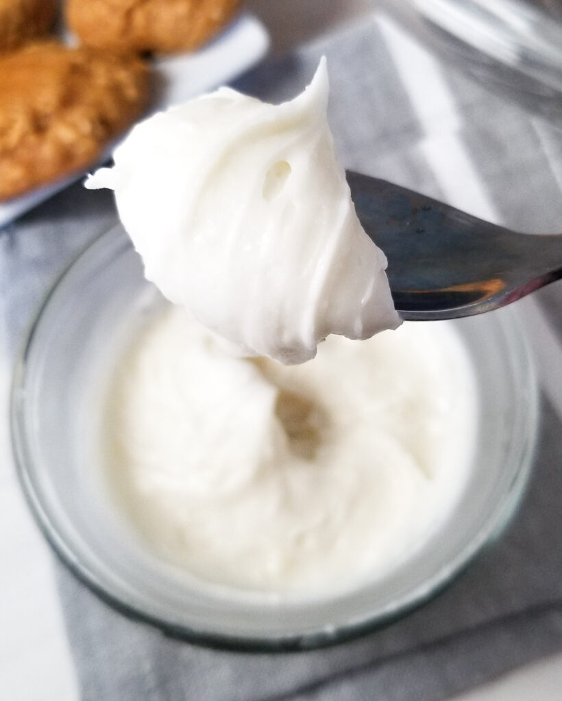2 ingredient cream cheese frosting.