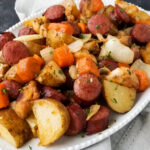 sheet pan kielbasa and veggies