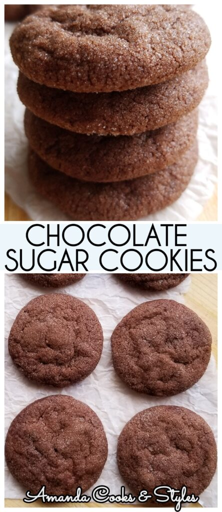 Soft Chewy Chocolate Sugar Cookies