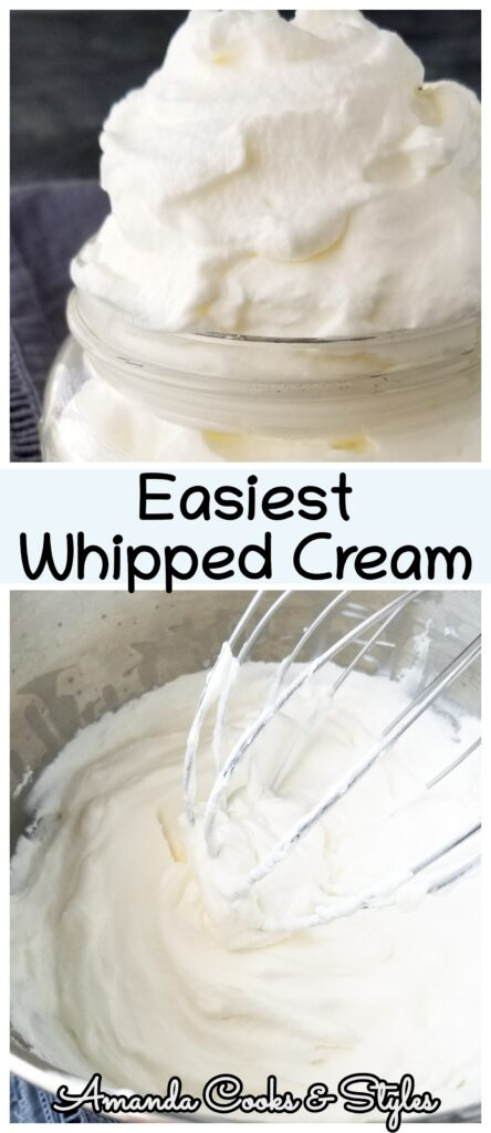 homemade whipping cream