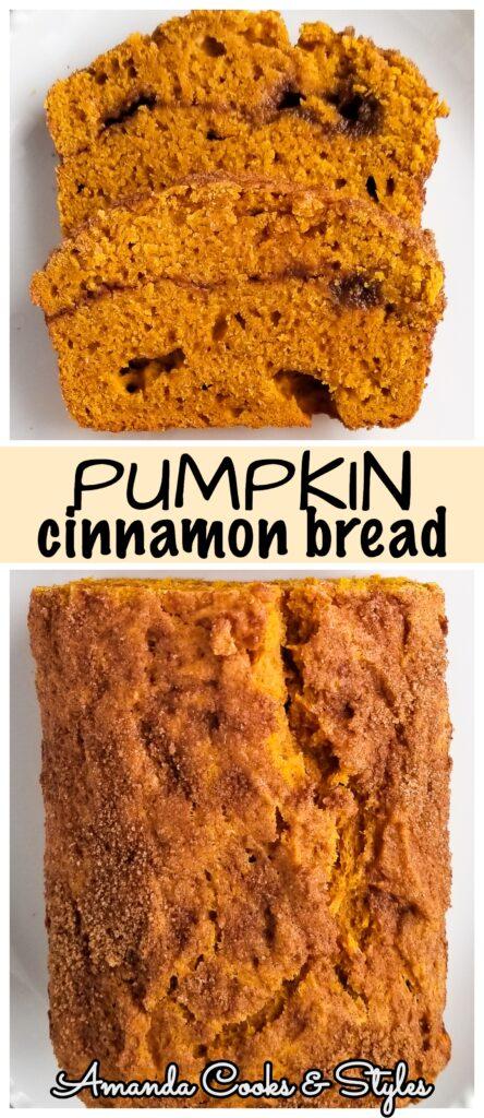 pinterest pumpkin cinnamon bread