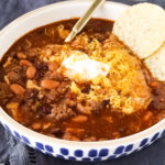 taco soup with ground beef.