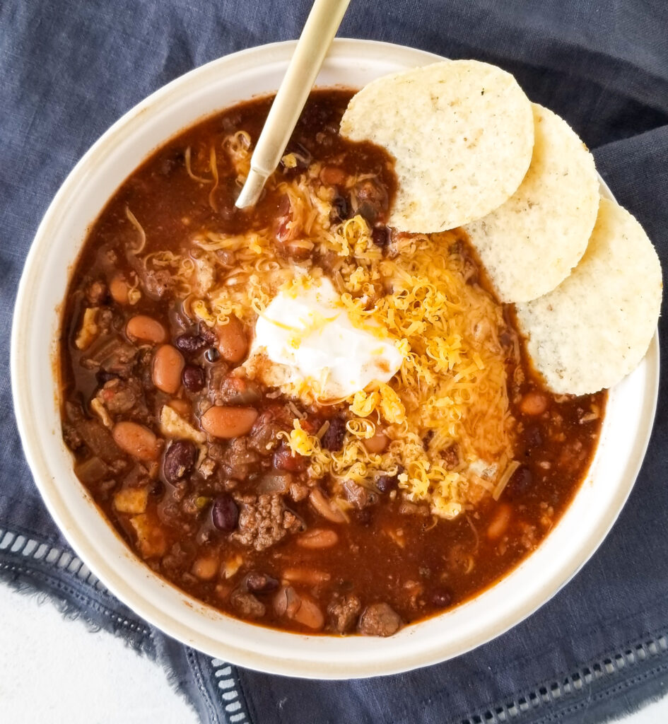 crockpot ground beef taco soup