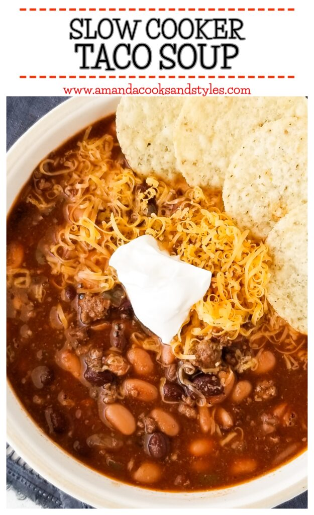pinterest slow cooker taco soup