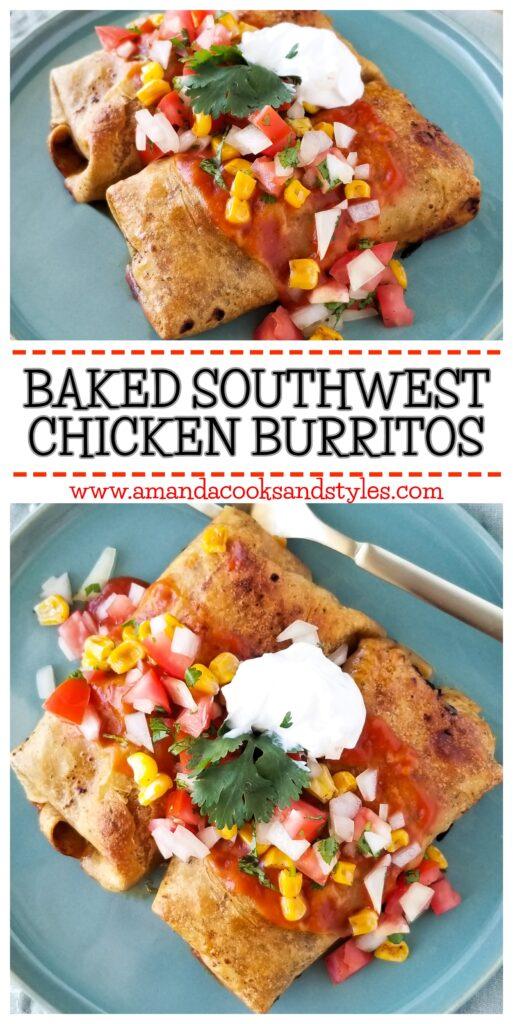 pinterest southwest chicken burritos