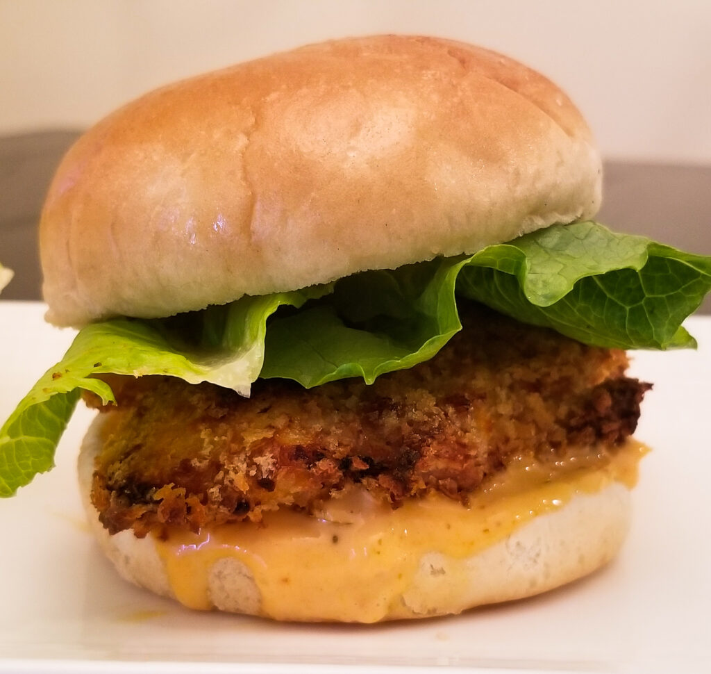 oven fried chicken sandwiches with spicy pickle mayo