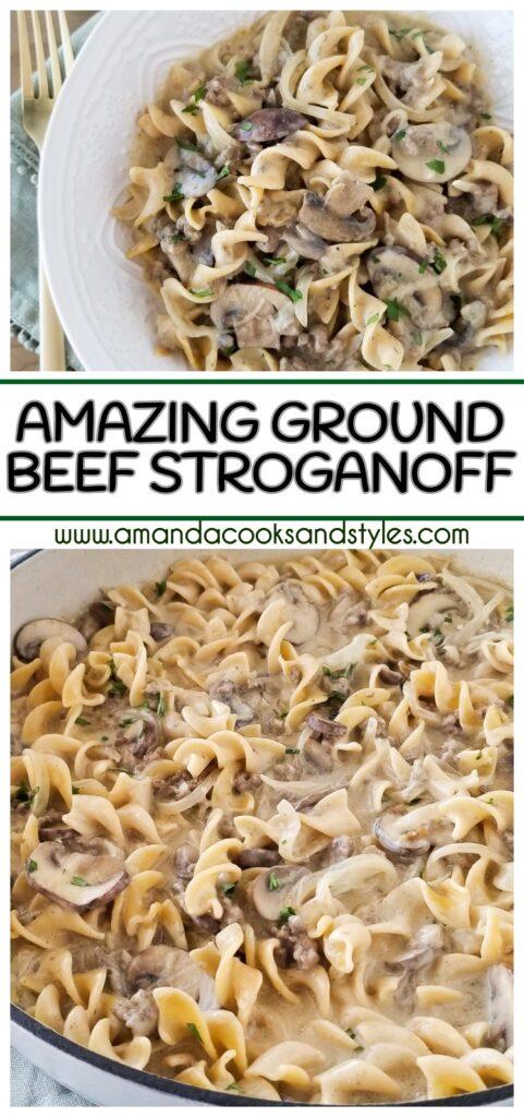 pinterest ground beef stroganoff