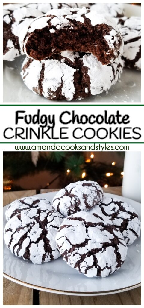 pinterest image chocolate crinkle cookies