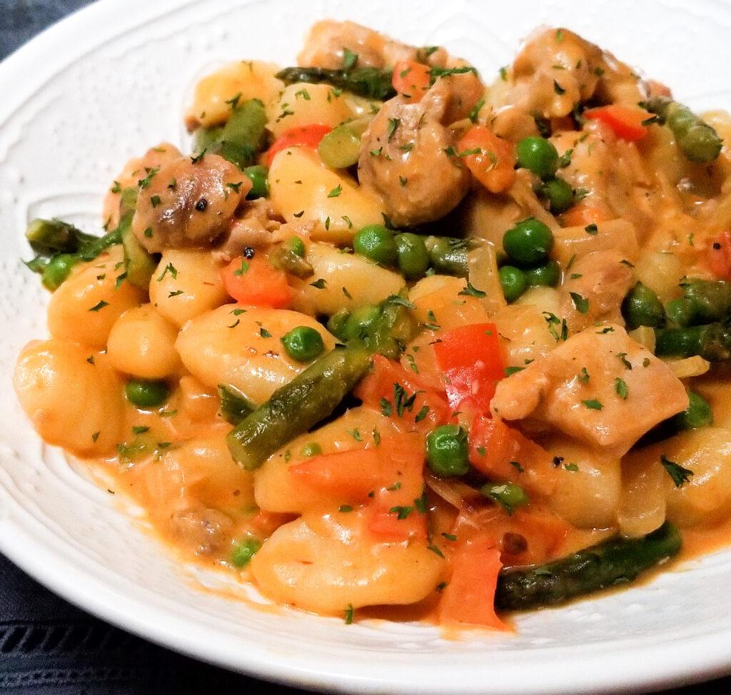spicy chicken chipotle gnocchi pasta