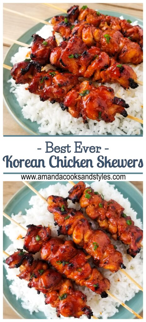 pinterest korean chicken skewers