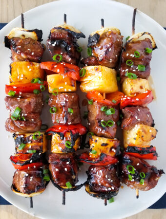 Hawaiian Beef Skewers