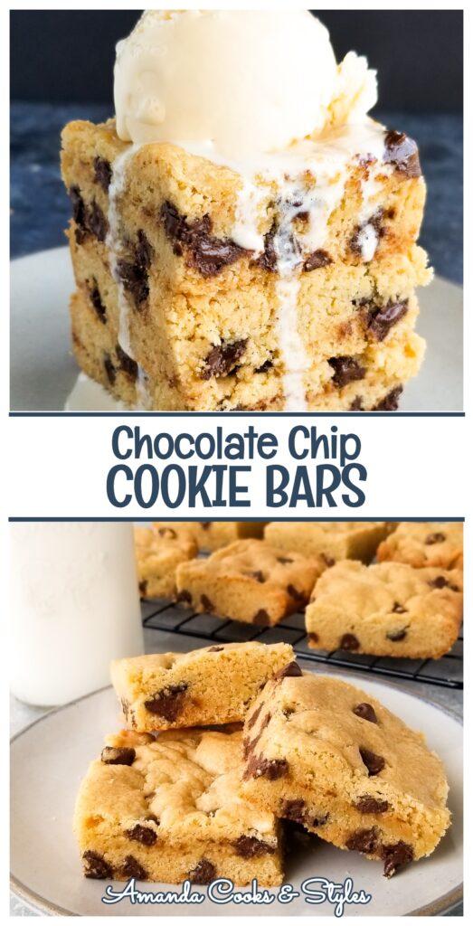 Pinterest chocolate chip cookie bars