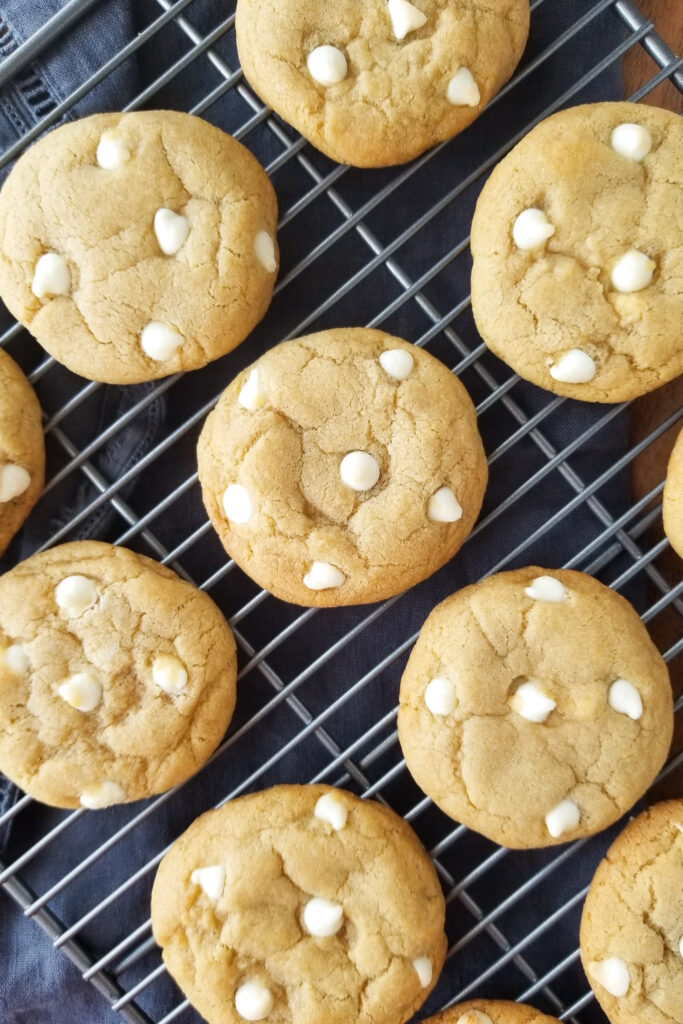 brown butter white chocolate cookies