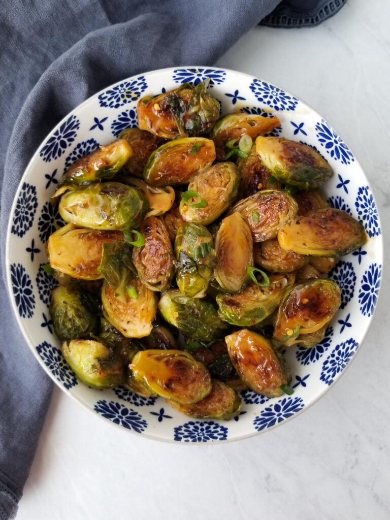 teriyaki glazed brussels sprouts