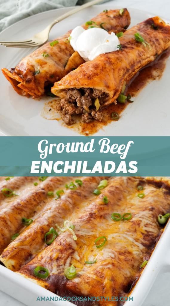 restaurant style enchiladas