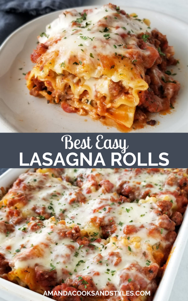 lasagna roll on white plate